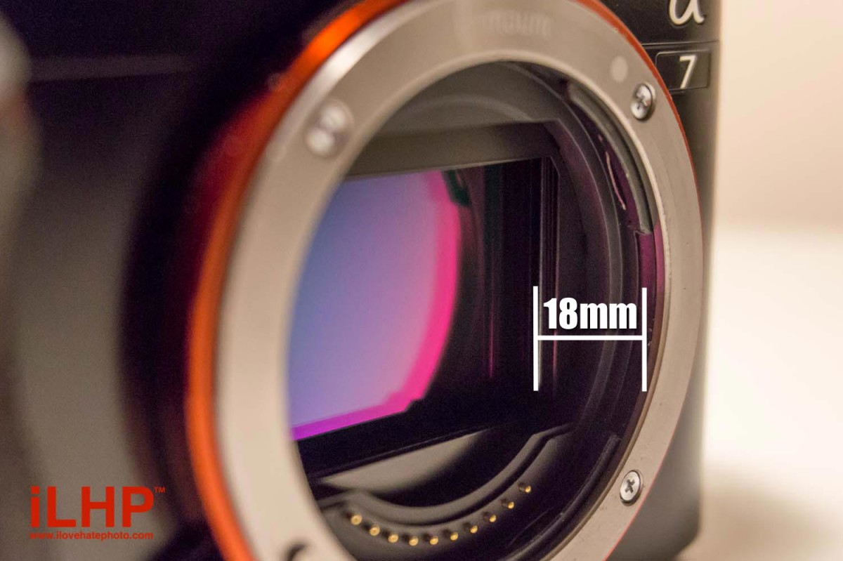 On mirrorless cameras, the sensor is right near the edge of the camera body. There isn't a mirror box to protect it from damage. Extra care and caution is required during lens changes.