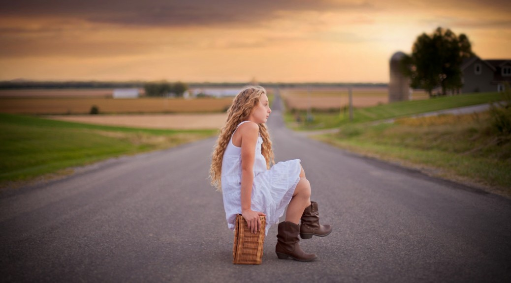 cesar vargas girl on country road