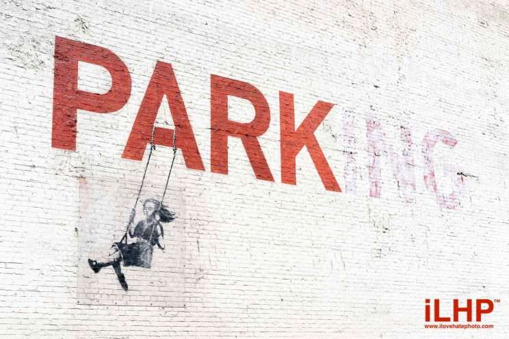 banksy parking girl on swing los angeles