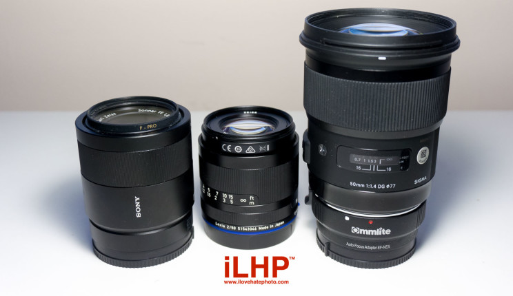 mighty nifty fifty lens comparison test