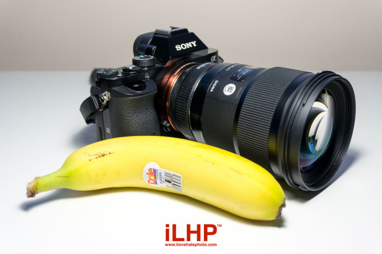 sigma 50mm is too big and heavy banana for scale