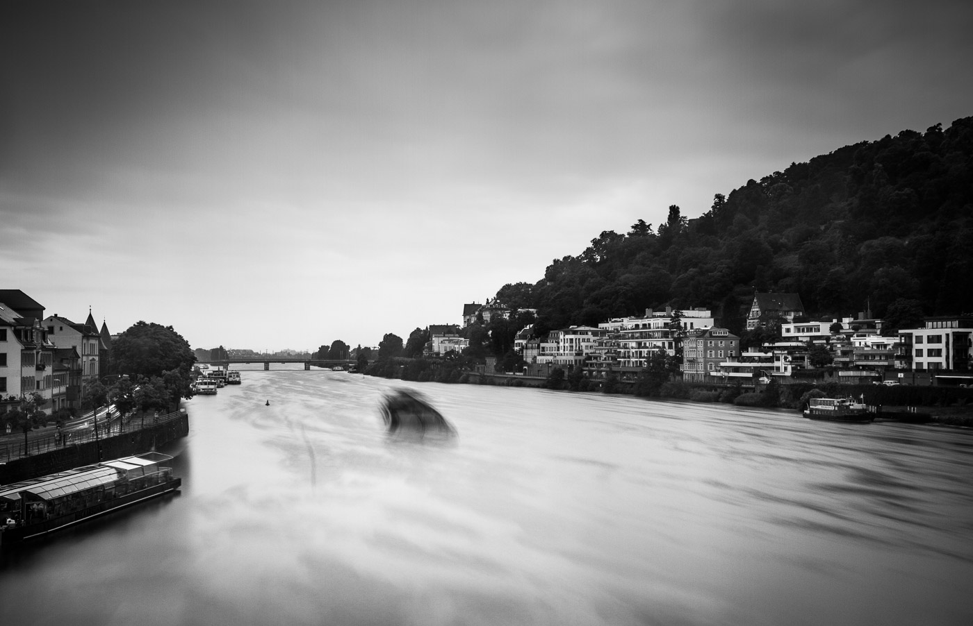I really wanted to practice my long exposure time photography in a recent work trip to Germany. A 10-stop ND filter and a mini tripod were easy enough to carry in my backpack and an unexpected free day in Heidelberg provided a great setting for photography. What you can't see is me getting absolutely drenched in the pouring rain as I didn't take a rain jacket with me on my work trip.