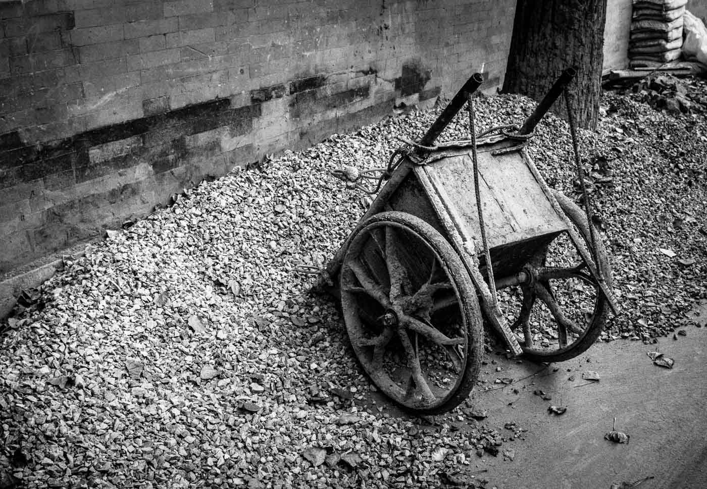 A cart by the side of the road in Beijing, China. Photo taken from a taxi taking me back to the hotel after a work event and required no tripods, no heavy lenses and could have been take with a compact camera. Details in unfamiliar sceneries make for refreshing photography, give it a try!