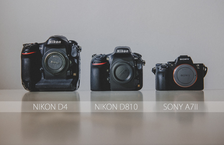 They're all full frame cameras. DSLR vs Mirrorless. But this is not this debate here.