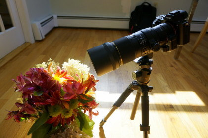 Minimum focal distance with the teleconverter